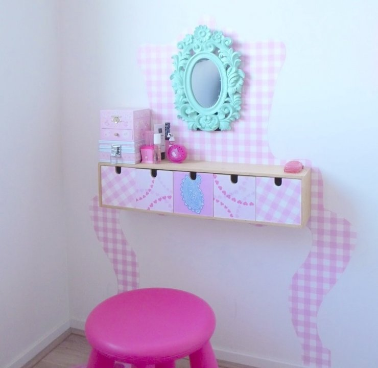 Ikea Moppe drawers hacked into a vanity